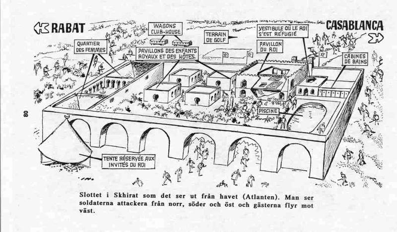 Tentative de coup d'État à Rabat et Skhirate le 10 juillet 1971  08010
