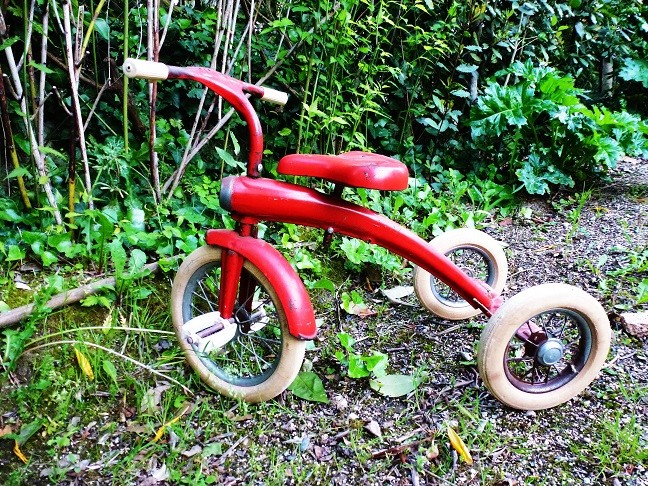 Tricycle rouge années 60 Tricyc10