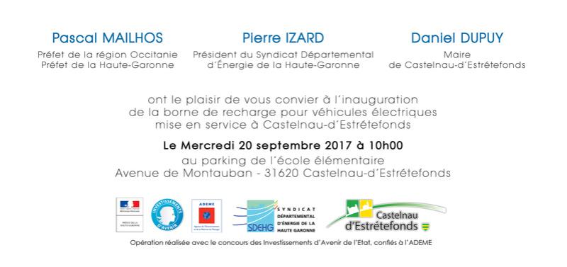 Inauguration de la borne de recharge mise en service à Castelnau-d'Estrétefonds Carton12