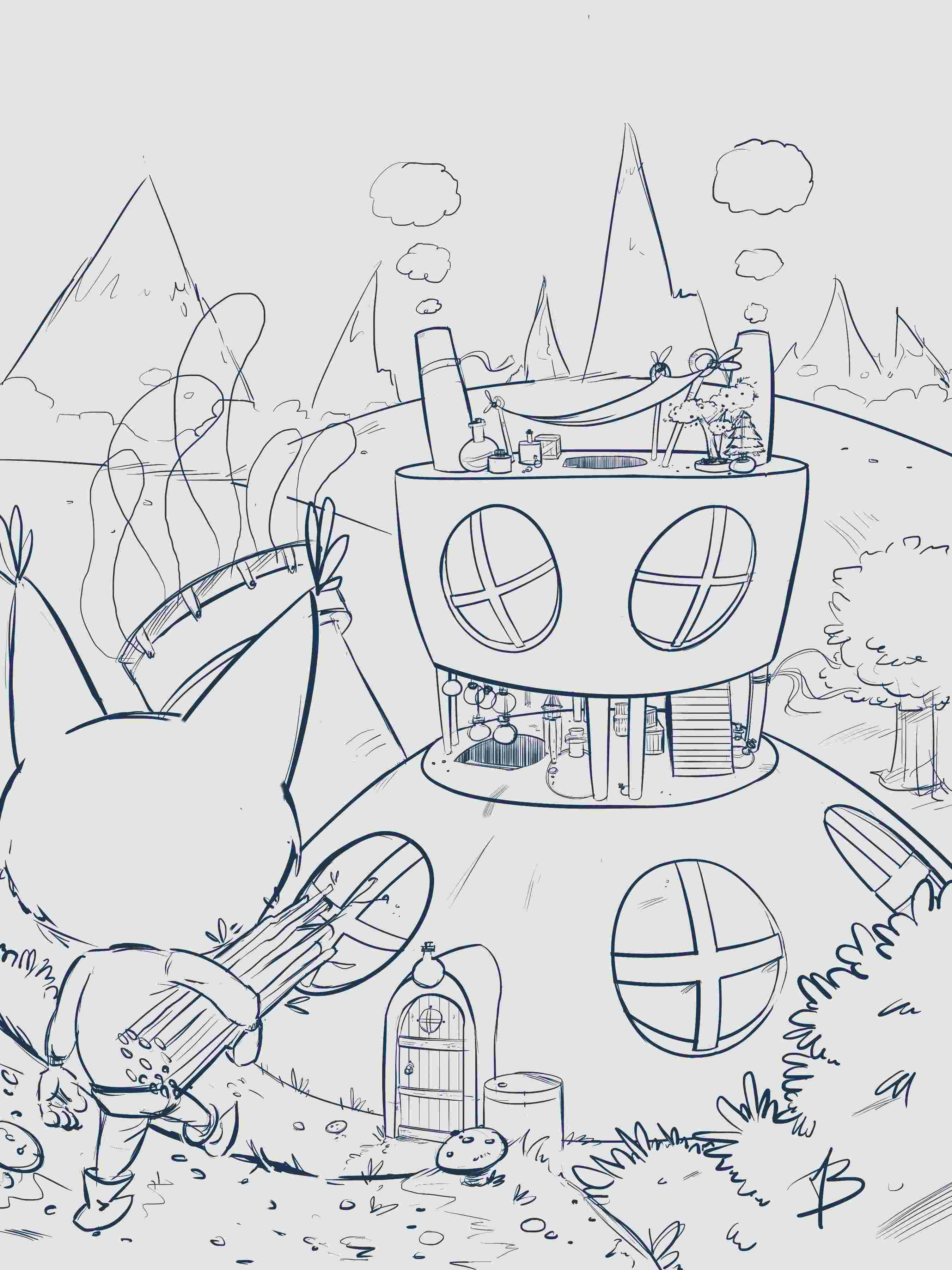 [defis] Lines à coloriser Maison22