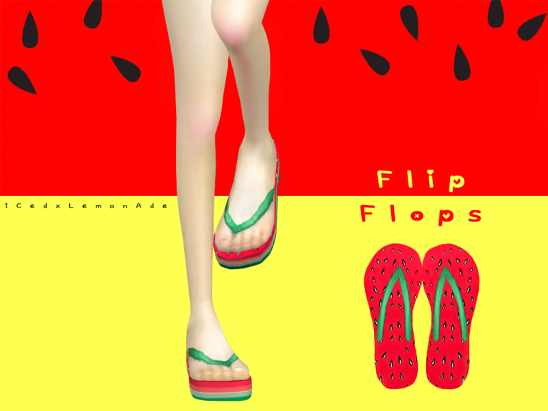 Watermelon Flip Flops Previe10