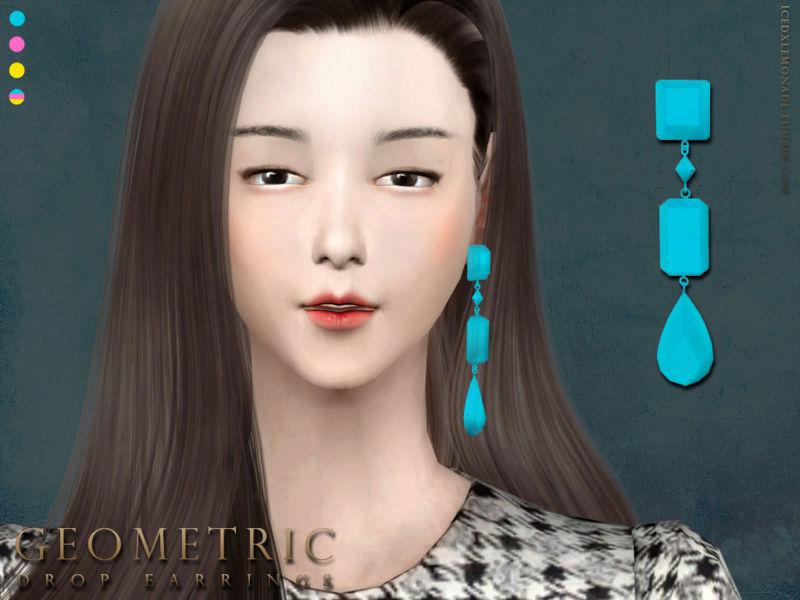 Geometric Drop Earrings N01 T110