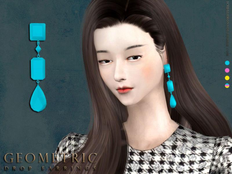 Geometric Drop Earrings N01 T210