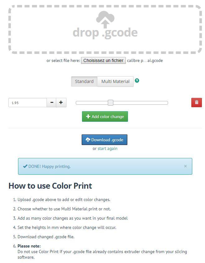[TUTO imprimante 3D] Imprimer en couleur avec un seul extrudeur V1 Captur23