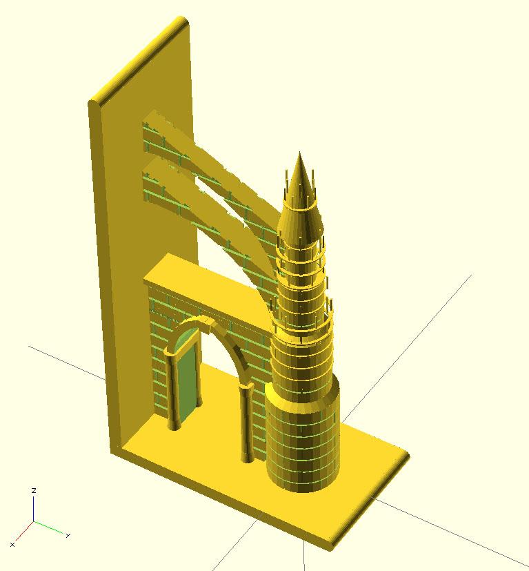 modélisation paramétrique sous Openscad Contre10