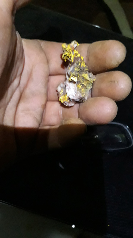 Just finished First gold nugget hunting trip 20170715