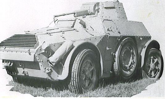 اسلحة الحرب العالمية الاولى و الثانية :الجزء الثانى العربة المدرعة الايطالية اب41 أوتوبليندا 41    AB 41 Vehicl17