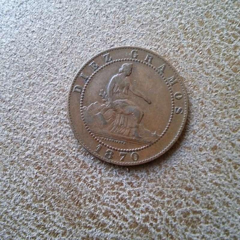 10 cent. 1870, le falta una estrella 20170810