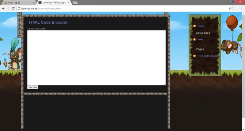 HTML Code Encoder Screen10
