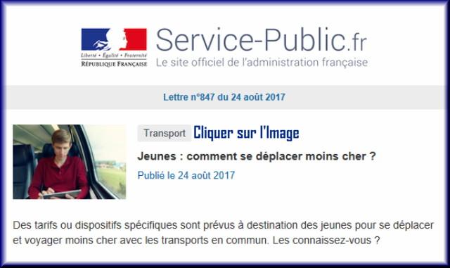 """La lettre N° 847 de """"Service Public"""" pour le 24 Août 2017 84710"""