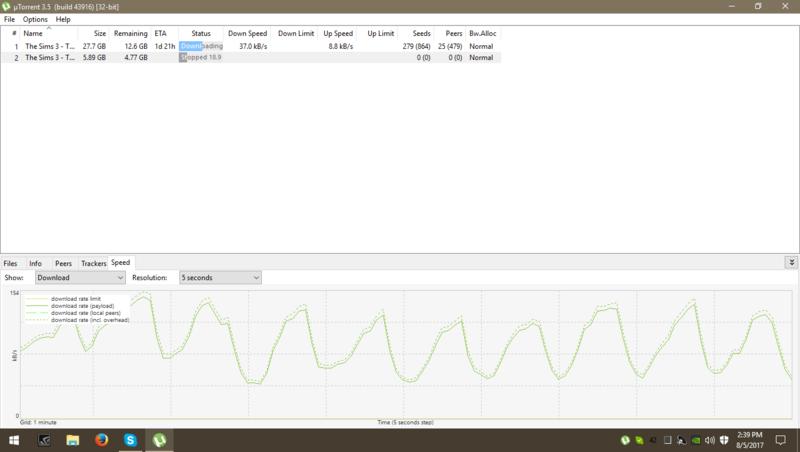 Inconsistent Download Speed in uTorrent