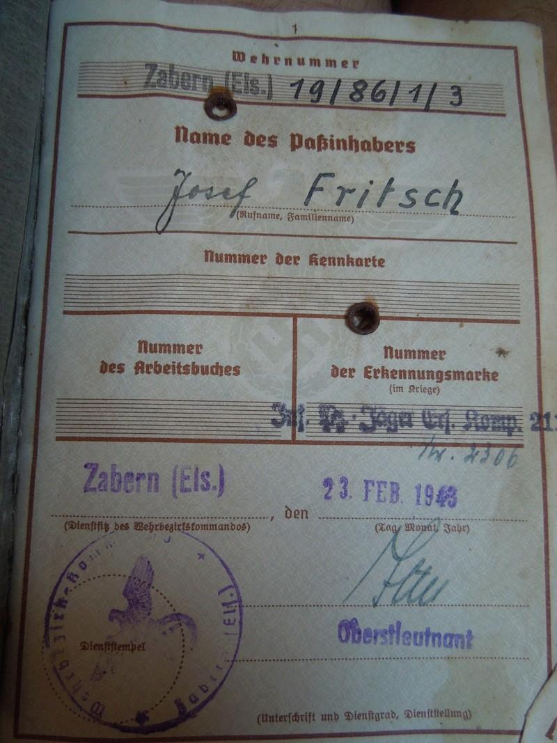 Traduction et explication Wehrpass d'un membre de ma famille Dscn6810