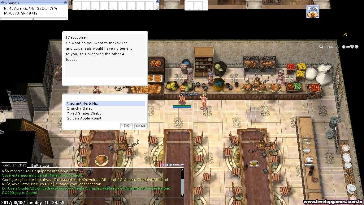 BUG no Cozinheiro Academia Izlude Screen13