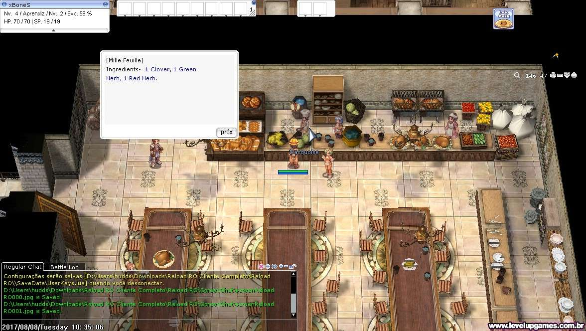 BUG no Cozinheiro Academia Izlude Screen14