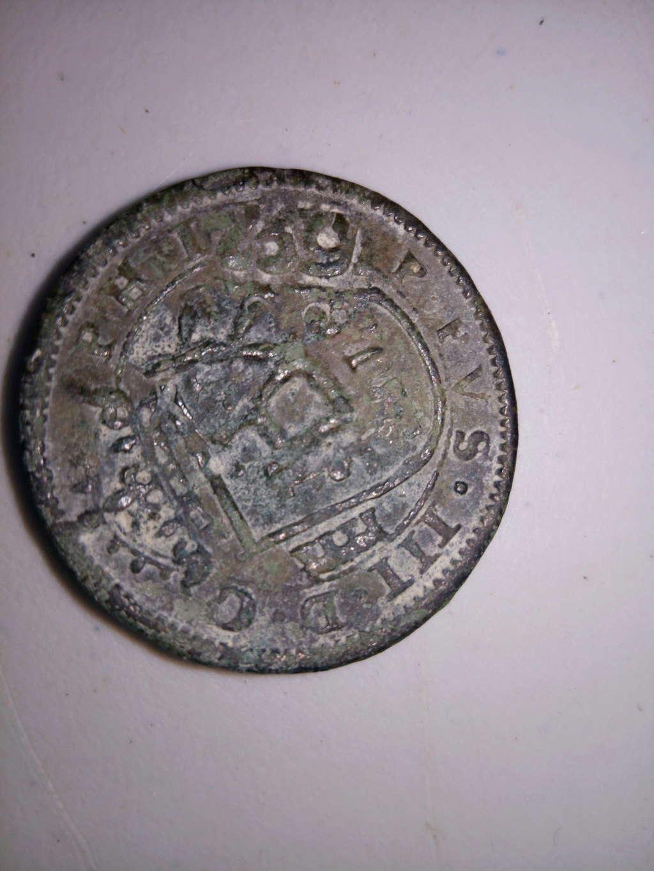 VIII maravedís de Felipe III, 1618, Segovia, con resellos. Img_2011