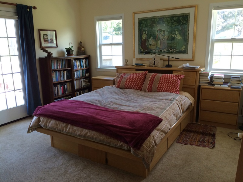 custom-made wooden queen-size bed with lots of storage Queen-13