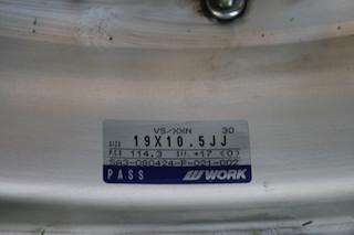 19 inch Work VS-XX, powder-coated grey, 5x114.3, 19x9.5 +19 front / 19x10.5 +17 rear Img_8626