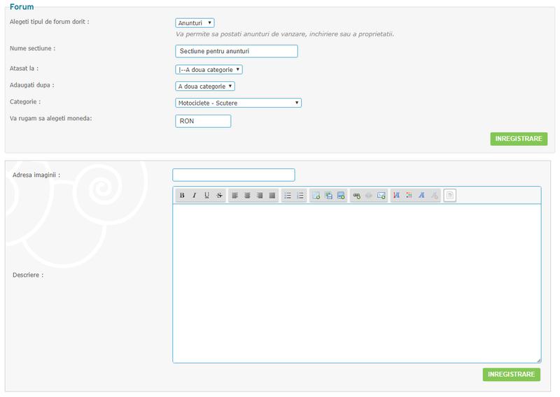 Actualizare noua: Anunturi clasificate pe Forumgratuit Demo110