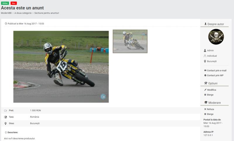 Actualizare noua: Anunturi clasificate pe Forumgratuit Demo410