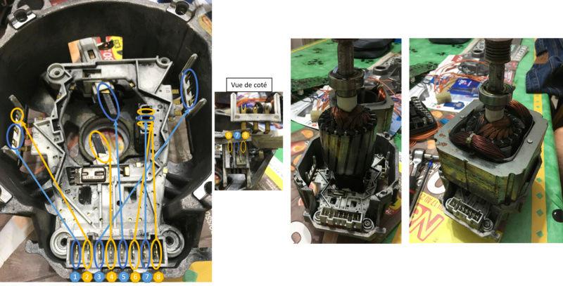 """Branchement moteur machine à Laver 8 fils """"noname"""" d'une siemens siwamat xts 1100 Moteur10"""