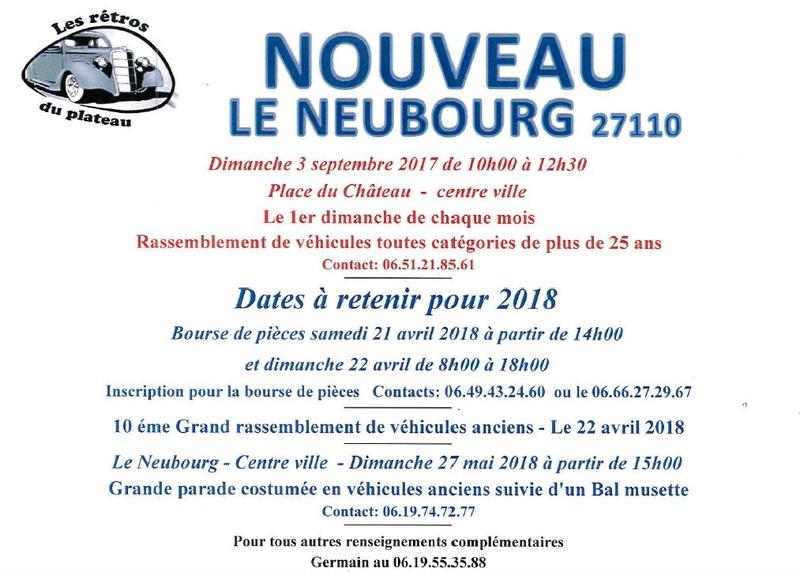 Rassemblement mensuel Le NEUBOURG Retro_15