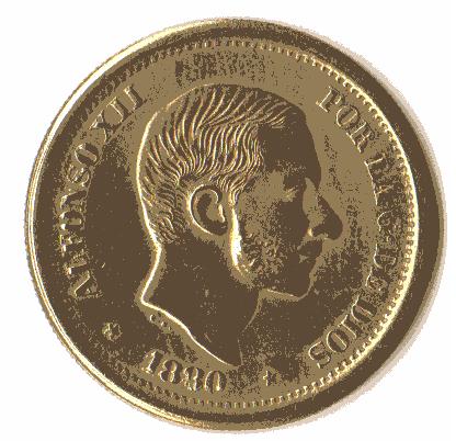 50 centavos de Peso 1880. Estado Español. Pruebas de máquinas. (Anmem dedit)  Sin_ty10