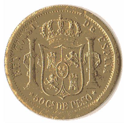50 centavos de Peso 1880. Estado Español. Pruebas de máquinas. (Anmem dedit)  Sin_ty13