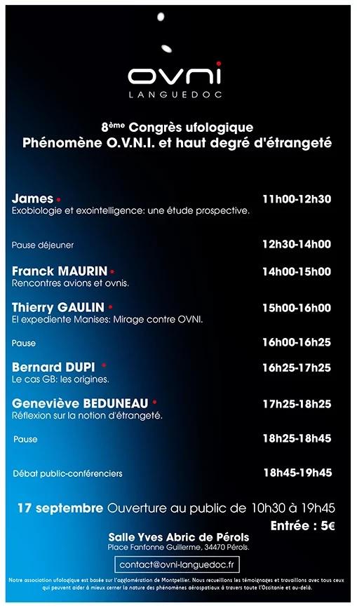 8ème congrès ufologique d'OVNI-Languedoc Affich12