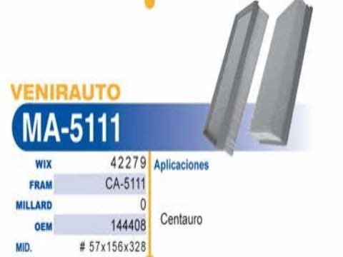Cambio de filtro de Aire Centauro 50860110