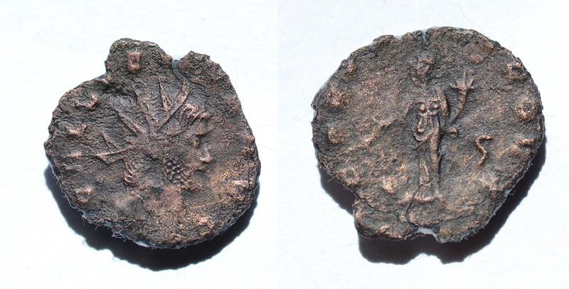 Antoniano de Galieno. FORTVNA REDVX. Fortuna estante a izq. Ceca Roma. 610