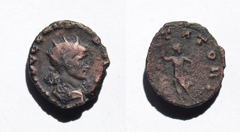 Antoniniano de Claudio II El Gótico. IOVI STATORI. Júpiter estante a izq. Ceca Roma. 810