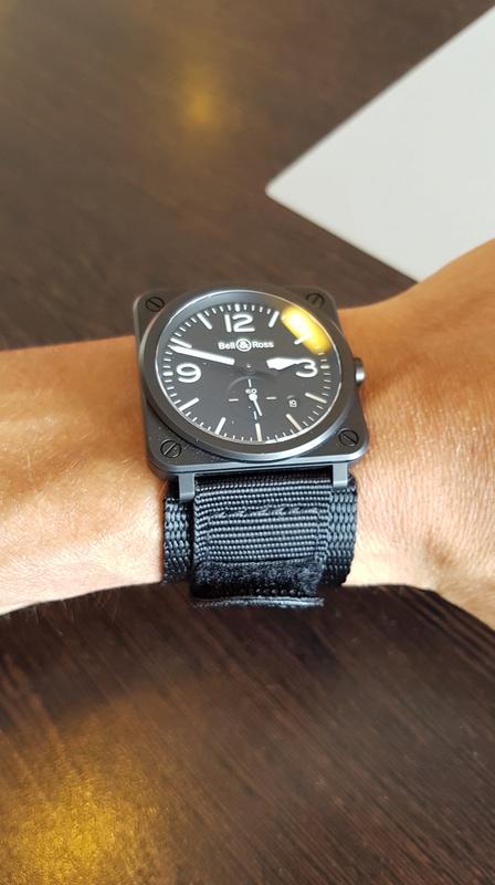 "Bracelet ""alternatif"" pour BRS Black matte ceramic  20170813"