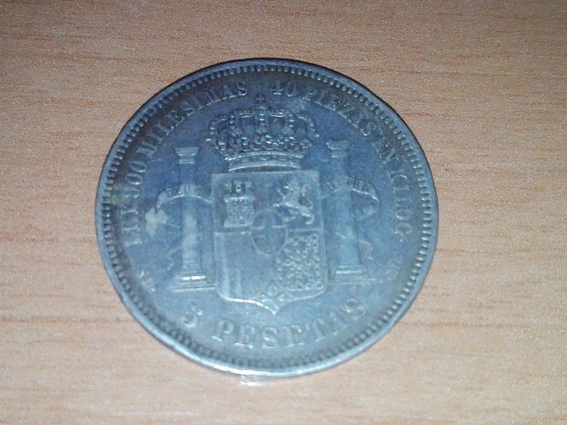 5 pesetas amadeo 1871 estrellas 18 71 Img_2086