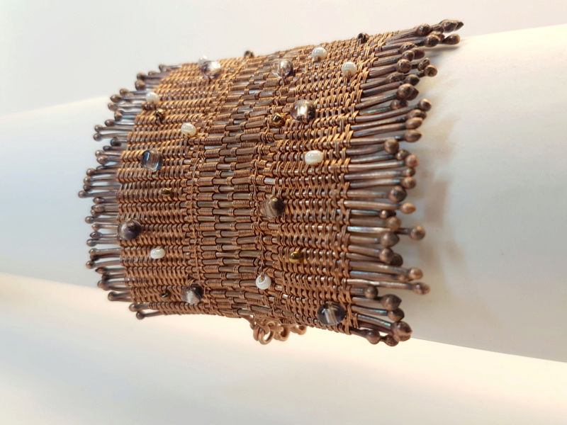 Bracelet en cuivre - expérimentation de nouvelles techniques  20170813