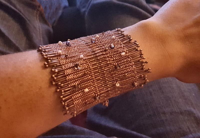 Bracelet en cuivre - expérimentation de nouvelles techniques  20170814