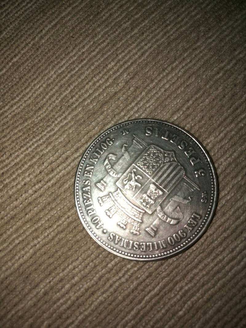 Moneda 5 pesetas 1870 15036911