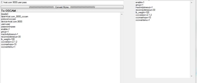 Conversor de N e C lines de MCS p/ OScam Reader Mcsc_t11