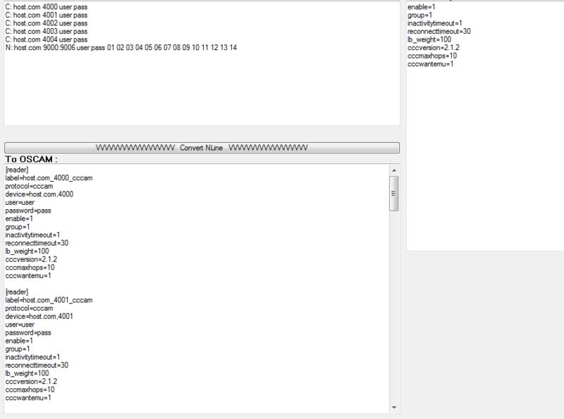 Conversor de N e C lines de MCS p/ OScam Reader Mcsc_t12