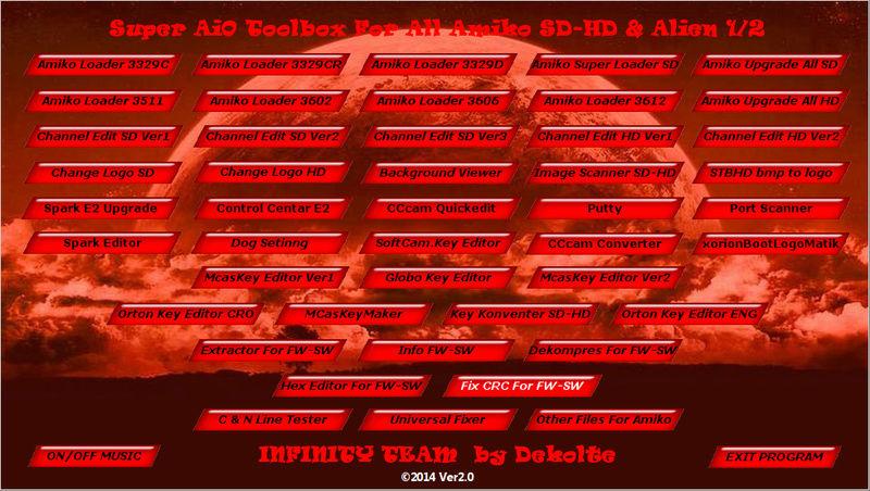 Super AiO Toolbox For All Amiko SD-HD & Alien 1-2 Screen11