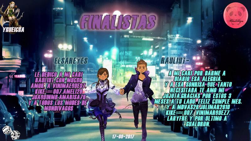 PARCHIS PAREJA 17-09-2017...FINALISTAS!!...ELSAREYES.RAULIUT- Finali10