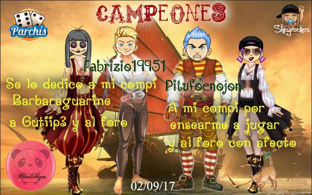 PARCHIS PAREJAS 02/09/17..CAMPEONES!! PITUFOENOJON-FABRIZIO19951 Scree114