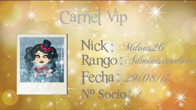 CARNET VIP.. MDVAS26 Screen26