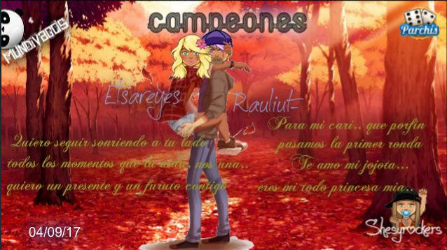 PARCHIS PAREJAS 04/09/17.. CAMPEONES!! ELSAREYES-RAULIUT- Screen39