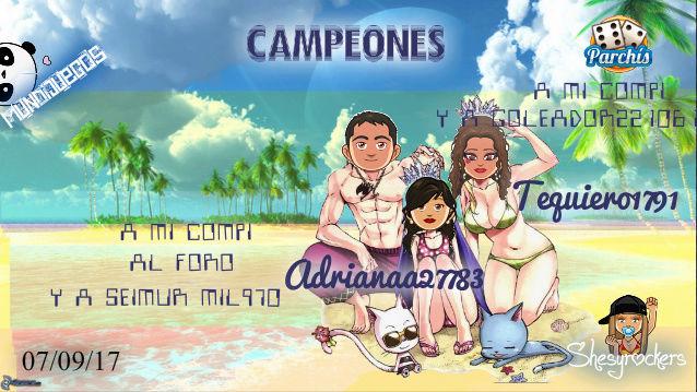 PARCHIS PAREJAS 07/09/17..CAMPEONES!! ADRIANAA27783-TEQUIERO1791 Screen60