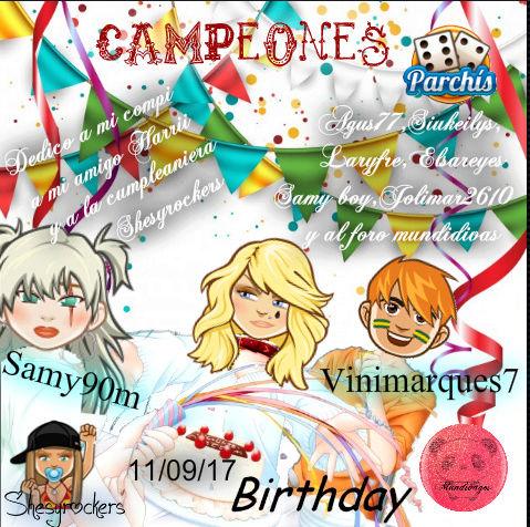 PARCHIS PAREJAS 11/09/17..CAMPEONES!! SAMY90M-VINIMARQUES7 Screen80