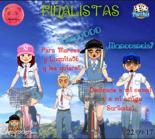 PARCHIS PAREJAS 22/09/17..FINALISTAS!! CANDY000-MARCOSREIS7 Screen85