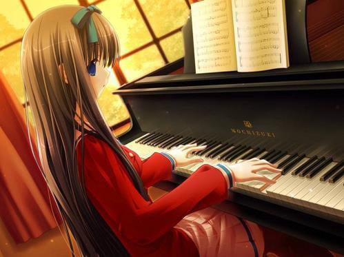 فتيات إنمي تعزف Dfcb0d10