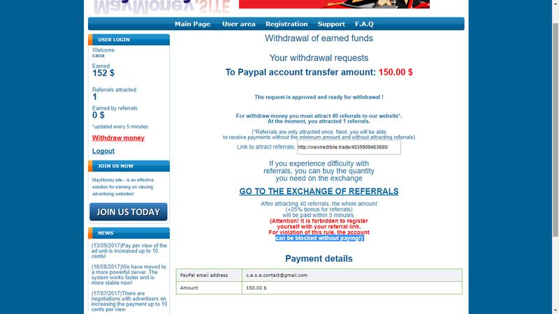 [Aldrabice/Scam] MayMony.Site - Paga por Paypal! Screen12