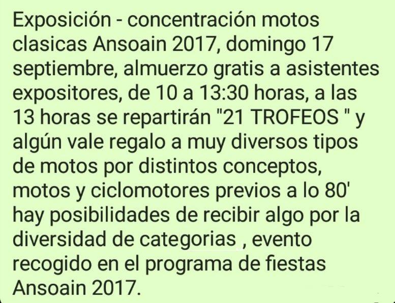 exposicion-concentracion motos clasicas Ansoain (navarra ) 2017 20992710