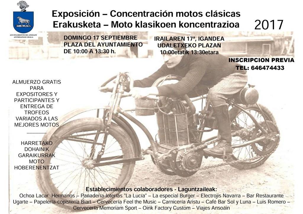 exposicion-concentracion motos clasicas Ansoain (navarra ) 2017 Cartel11